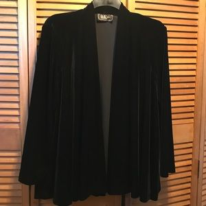 R&K Evening Black Velour Swing Jacket